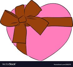 big ribbon drawing heart with big ribbon bow royalty free vector image