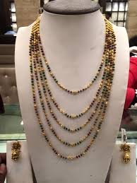 black pearl chain necklace images Black beads chain jpg