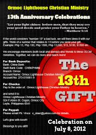 13th anniversary gift the 13th gift sacrificial giving