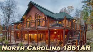 north carolina 1861ar timber hybrid log home plan youtube