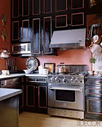 Gold Kitchen Cabinets The Steampunk Home A Black And Gold Kitchen