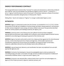 performance contract template 11 download free documents in pdf