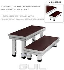 modular stage access stairs 2 steps with adjustable legs the