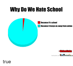 I Hate School Meme - why do we hate school because its school because it keeps us away