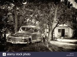 1950 S House by Old Classic 1950 S Vintage American Car Parked Outside Wooden