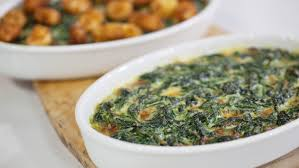 creamed spinach with fried cheese curds today