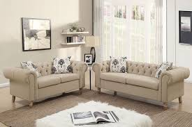 Fabric Chesterfield Sofa Sand Fabric Chesterfield Sofa Set