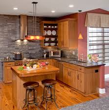 stone backsplash kitchen midcentury with kitchen hardware
