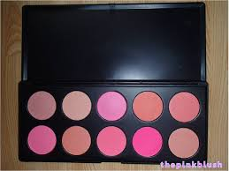 Makeup Pac review enhance cosmetics 10pc blush shimmer tangerine collection