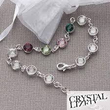 mothers bracelets sterling silver swarovski custom birthstone bracelet