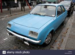 vauxhall blue old blue car 1970s vauxhall chevette stock photo royalty free