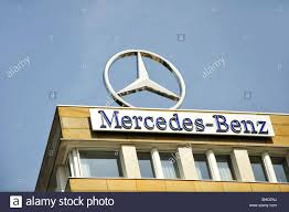 mercedes benz logo mercedes benz logo on building in berlin germany stock photo