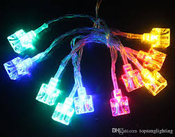 battery powered led christmas lights 10leds ice cube led christmas lights string outdoor lighting battery