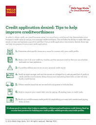 What Is The Best Credit Card For Small Business Owners Credit Application Denied Tips To Help Improve Creditworthiness