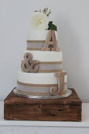 burlap cake toppers rustic wedding cake topper twine burlap and lace flowers