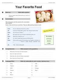 food cooking efl esl search worksheet results
