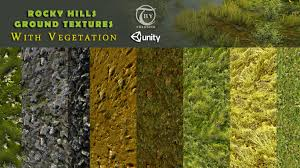 texture rocky hills ground textures with vegetation vr ar