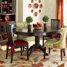 ronan extension table and chairs ronan rubbed black dining chair red accents accent colors and