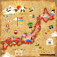 Pennsylvania Attractions Map by Japan Travel Map With Famous Attractions Japan In Japanese