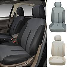 mercedes c class seat covers amazon com n16101 black fabric 2 front car seat covers compatible