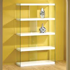 Glass Bookcases With Doors Bookshelves With Sliding Door Islademargarita Info