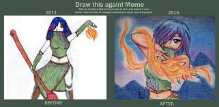 Draw It Again Meme - draw this again meme fire enchantress 2011 2016 by keylhen on