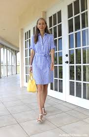 classic fashion over 40 over 50 j mclaughlin gingham dress talbots