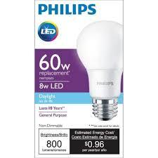 100 watt led light bulb philips 60w led a19 4 pack daylight for 2 82 ymmv b m