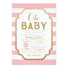 pink and gold baby shower invitations pink and gold baby shower invitations templates ideas all
