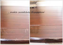 flooring scratches on hardwood floors vinegar buffing out how to