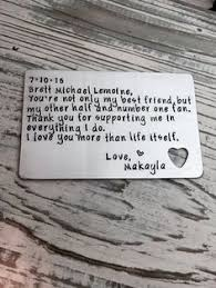 wedding keepsake quotes wallet insert card personalized wallet insert card anniversary