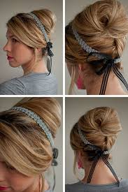 1950s headband updo ideas 1950 s beehive updo with ribbon headband hairstyles