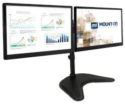 Dual Monitor Gaming Desk Amazon Com Mount It Dual Monitor Desk Stand Lcd Mount