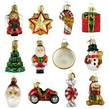 nostalgic miniature glass christmas ornament gift set 12 pc
