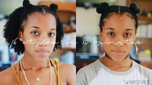 natural hair after five styles 16 easy styles for short natural hair in 10 minutes