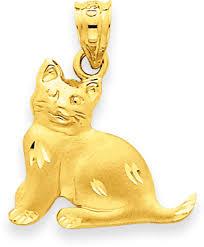 gold cat pendant necklace images 14k yellow gold cat pendant jpg