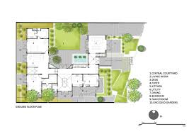 Courtyard Home Floor Plans by Gallery Of Courtyard House Architecture Paradigm 21