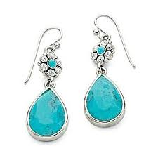 turquoise earrings jcpenney sterling silver turquoise earrings polyvore