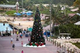 giant christmas tree picture of castaway cay sandy point
