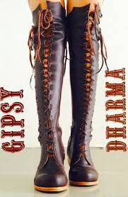 s boots knee high brown leather boots clockwork knee high leather boots for
