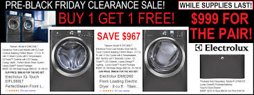 black friday sales on washers and dryers 999 electrolux front load washer dryer set sale save 900