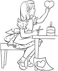 Free Printable Valentine Coloring Pages Kids Valentine S Day Cut Coloring Pages