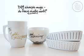 Decorating Porcelain Mugs Testing Out Diy Sharpie Mugs The Gold Jellybean