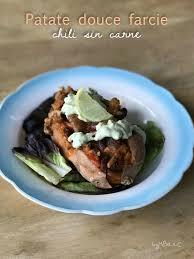 cuisine sans viande patate douce farcie au chili carne sans viande mes