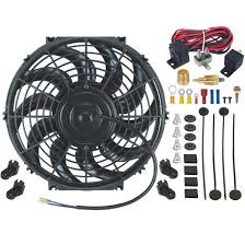 electric radiator fans 12 inch electric radiator fan thread in grounding thermostat kit