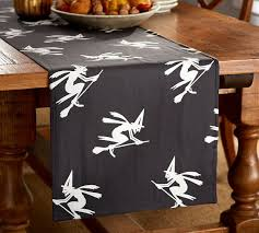 broomstick witches table runner pottery barn