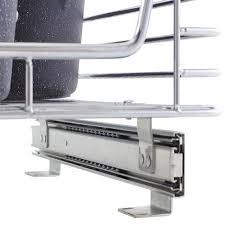 Under Cabinet Shelving by 14 5 Inch Glidez Sliding Under Cabinet Organizer Chrome