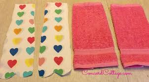 Valentine Bathroom Decor Look What One Hometalker Did With These 2 Clearance Towels Hometalk