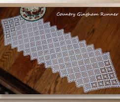 Crochet Table Runner Pattern Country Gingham Runner Crochet Table Runner Patterns