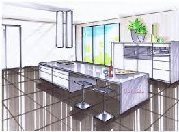 dessiner en perspective une cuisine cuisine laquee technique perspective le de elise fossoux